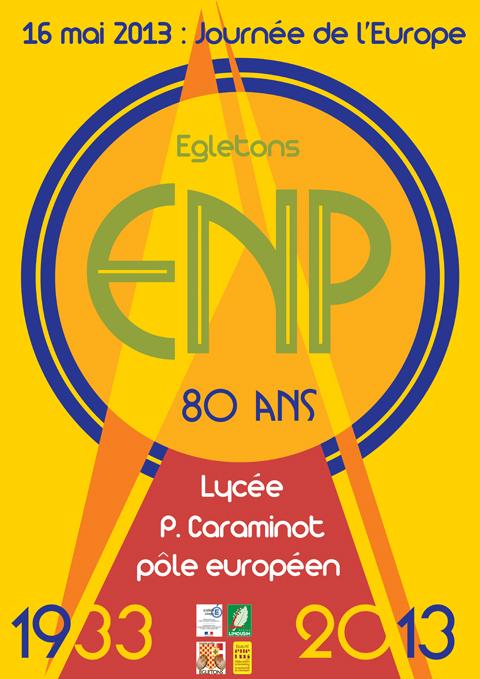 Affiche 80 ans lycee Caraminot 2013 - Egletons