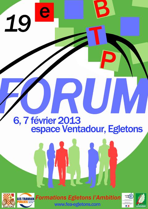 Affiche Forum BTP 2013 - Egletons