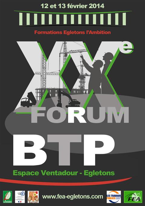 Affiche Forum BTP 2014 - Egletons