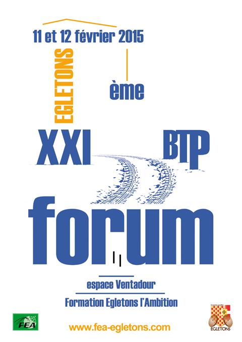 Affiche Forum BTP 2015 - Egletons