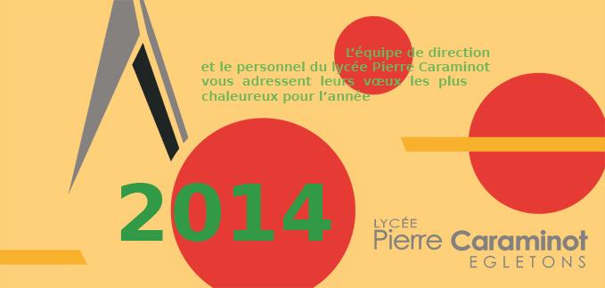 Carte de voeux - lycée P. Caraminot - 2014