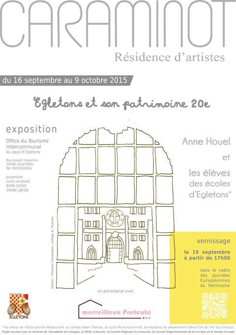 affiche exposition OTI Egletons septembre 2015